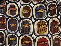 Detalle de mural zapatista   Foto: Manuel Toledo, BBC Mundo