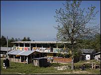 Escuela secundaria de Oventik    Foto: Manuel Toledo, BBC Mundo