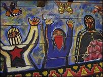 Mural zapatista   Foto: Manuel Toledo, BBC Mundo