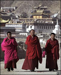 Tibetan monks in Xiahe, Gansu province, 16/03