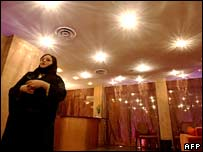 A Saudi woman attends the opening ceremony of the Luthan Hotel & Spa in the Saudi capital Riyadh