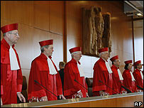 Judges of the Federal Constitutional Court in Germany, February 2008