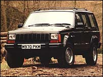 A Jeep Cherokee, like that which was customised by the Mexican gang