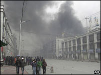 Rioting in Lhasa ( March 2008)