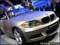 A BMW car at the Detroit Motor Show