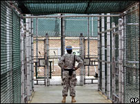 A guard at the Guantanamo Bay detention centre (file image)