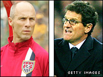 USA coach Bob Bradley and England manager Fabio Capello