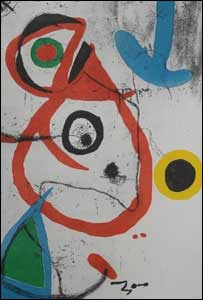Forged Joan Miro artwork, photo courtesy of Catalan police