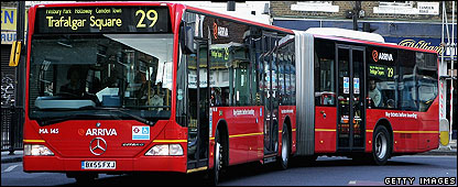 Bendy bus in north London