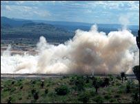 Explosiones en minas de cielo abierto