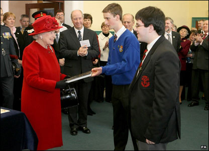 Queen at Royal School Armagh