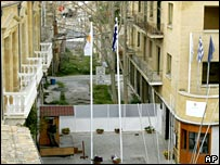 The UN buffer zone at Ledra Street, Nicosia