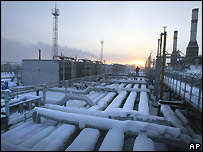 Gas field in Siberia - file photo