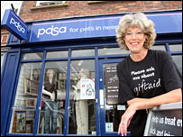 Actress and PDSA supporter Sue Nicholls