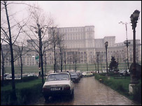 Romania's palace of the parliament in Bucharest - file photo
