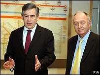Gordon Brown and Ken Livingstone