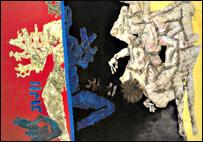 Husain painting 'Ganga-Yamuna'