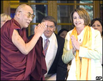 Nancy Pelosi meets the Dalai Lama