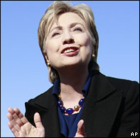 Hillary Clinton campaigns in Terre Haute, Indiana, 20 March 2008