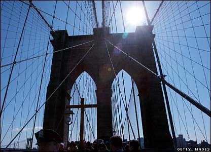Process on Brooklyn Bridge, New York