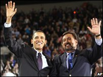 Barack Obama and Bill Richardson in Portland, Oregon - 21 March