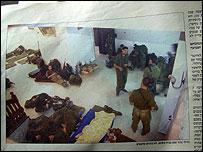 Israeli troops inside Abdul-Latif Nasif as pictured in magazine