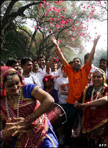 Holi, the &quot;festival of colours&quot; in Delhi, 22 Mar
