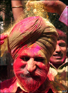 "Holi, the ""festival of colours"" in  Amritsar, 22 Mar"
