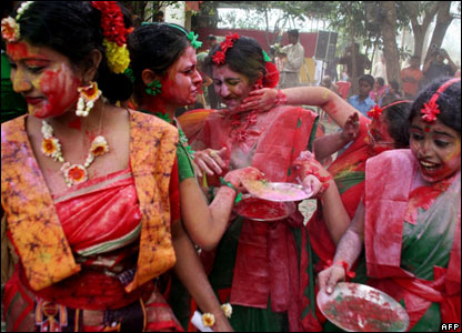 Holi, the &quot;festival of colours&quot; in Siliguri, 21 Mar