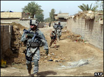 US troops in Baghdad. File pic.