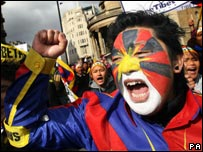 Free Tibet protester
