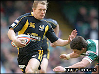 Wasps full-back Josh Lewsey was in great form at the Millennium Stadium