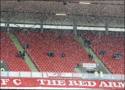 Snow at Pittodrie