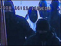 CCTV of the gang entering the store