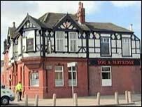 Dog & Partridge pub, Salford