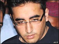 Bilawal Bhutto Zardari arrives at Islamabad airport on Thursday