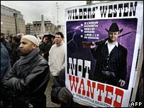 Amsterdam protest against Geert Wilders' film