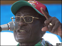 Zanu-PF leader Robert Mugabe in Harare on Saturday