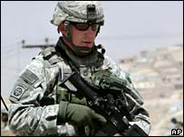 US soldier in Afghanistan (file)