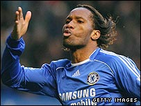 Didier Drogba inspired Chelsea to victory over Arsenal