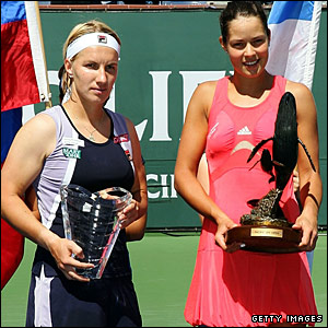 Svetlana Kuznetsova and Ana Ivanovic