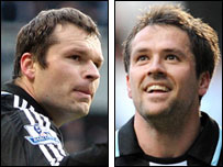 Mark Viduka and Michael Owen