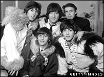 Neil Aspinall with the Beatles