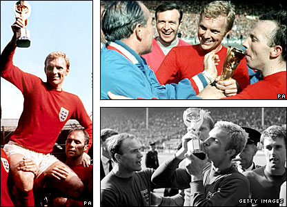England celebrate their 1966 World Cup triumph