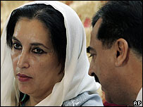 Benazir Bhutto (left) and Yusuf Raza Gillani , 08.11.07