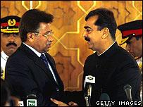 President Musharraf and PM Gillani