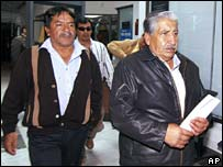 The uncle and father of the Ecuadorean man, Marcos Molina and Guillermo Aisalia