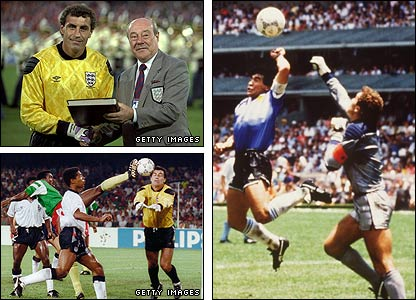 Shilton fell victim to Maradona's 'Hand of God' but recovered to help England reach the 1990 World Cup finals