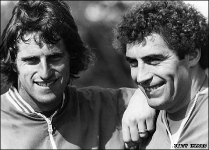Ray Clemence and Peter Shilton