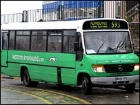 Western Greyhound bus  (Copyright Simon Coates)
